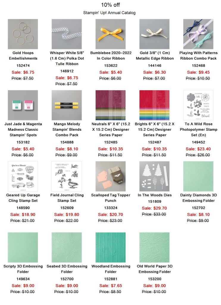 Stampin' Up! retired list is out and lots of deals to be had. #stampinup #thestampcamp #retired2021