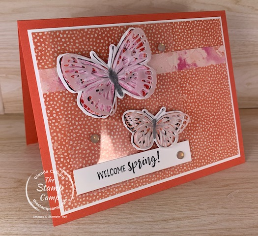 It's Saturday Sketch and this week I chose the sketch from Splitcoaststampers SC843. I also wanted to showcase the new Butterfly Brilliance Bundle that will carry over into the New Stampin' Up! Annual Catalog. #thestampcamp #stampinup #butterflybrilliance