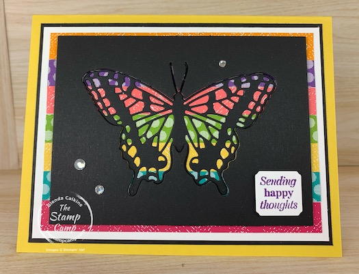 Today's technique is a spin on the Joseph's Coat technique but with Die Cuts instead of stamps and ink. I call this the Faux Joseph's coat Technique. #thestampcamp #stampinup #technique