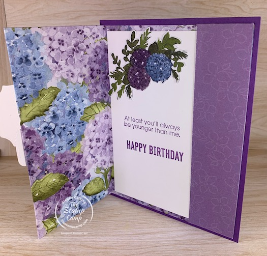 Fun Fold Friday This week's Triple Panel Front Fold is sure to be a pleaser with the recipient. It has 3 panels with 3 sentiments. #thestampcamp #stampinup #funfold