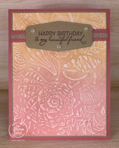 Technique Tuesday - Sanded Embossed Backgrounds