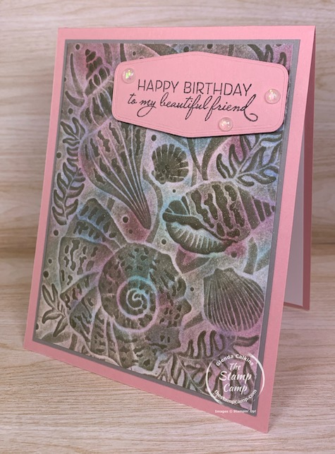 Technique Tuesday I call this technique Antiquing with 3D Embossing Folders. You are going to love all the different colors and details that come through with this technique. #stampinup #thestampcamp #technique