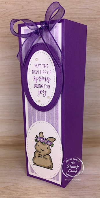 Don't forget about the bigger kids in your life for Easter. Why not make this adorable slip cover for a box of your favorite Cadbury Eggs? #thestampcamp #stampinup #easter