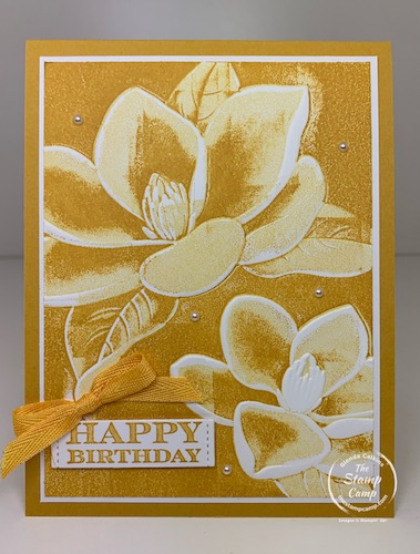 Embossing Folder and Inking Paper Technique