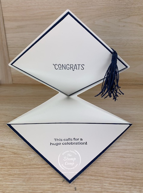 How to create a graduation card any grad would love to receive. This is not only a graduation card but a gift card holder as well. #thestampcamp #stampinup #graduation