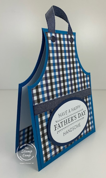 Try It Thursday features the Grille Master Apron Card/Gift Card Holder great for the Grille Master in your life for Father's day or a birthday. #thestampcamp #stampinup #giftcardholder