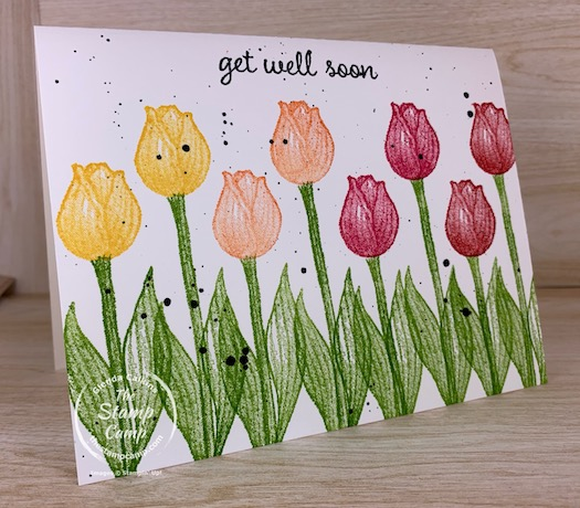 Simple Stamping Saturday featuring the Timeless Tulips stamp set. Simple Stamping or Basic Stamping no matter how you look at it; it is simple but beautiful. #thestampcamp #stampinup #simplestamping