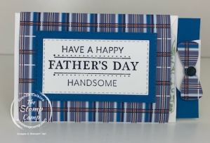 Well Suited from Stampin' Up! is Perfect For This Fun Gift Card Holder