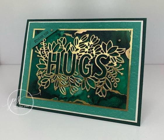 Sending Hugs Bundle Expressions in ink designer paper