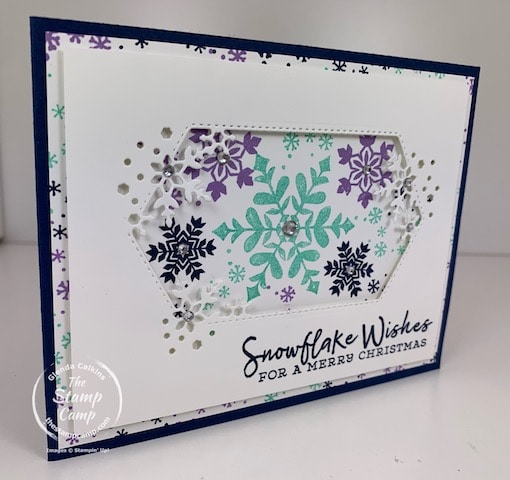 snowflake wishes stamp set and so many snowflakes dies