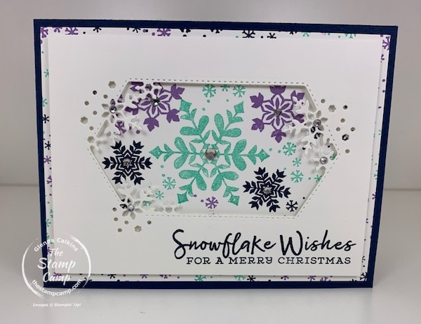 snowflake wishes stamp set with so many snowflakes dies