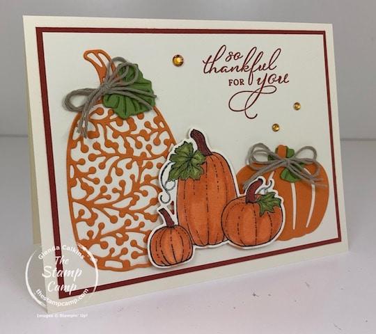 Stampin' Up! pretty pumpkins