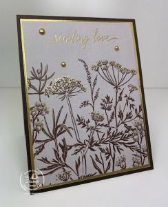 Create Simple Stamping Cards With Blackberry Beauty Paper