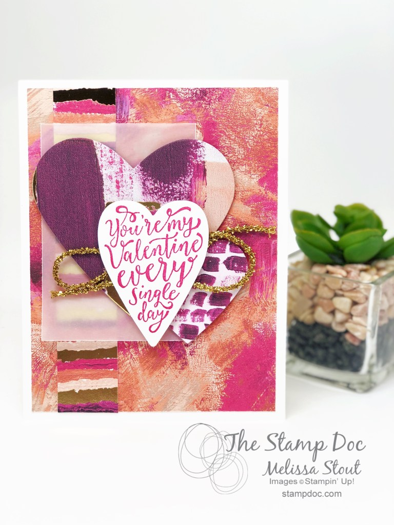 Painted With Love DSP & Sure Do Love You Valentine's Card