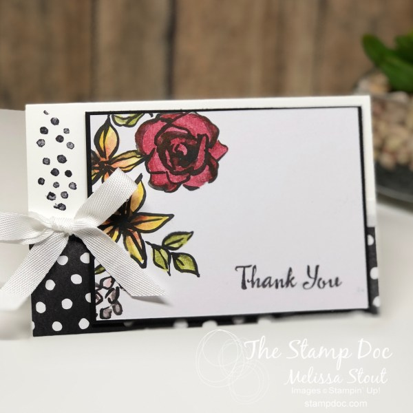 Memories & More Petal Passion Thank You Card