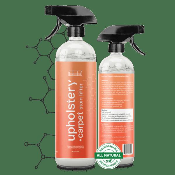 2 Stain Lifter Upholstery stain bottles