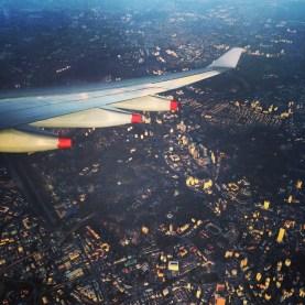 Arriving over Kuala Lumpur
