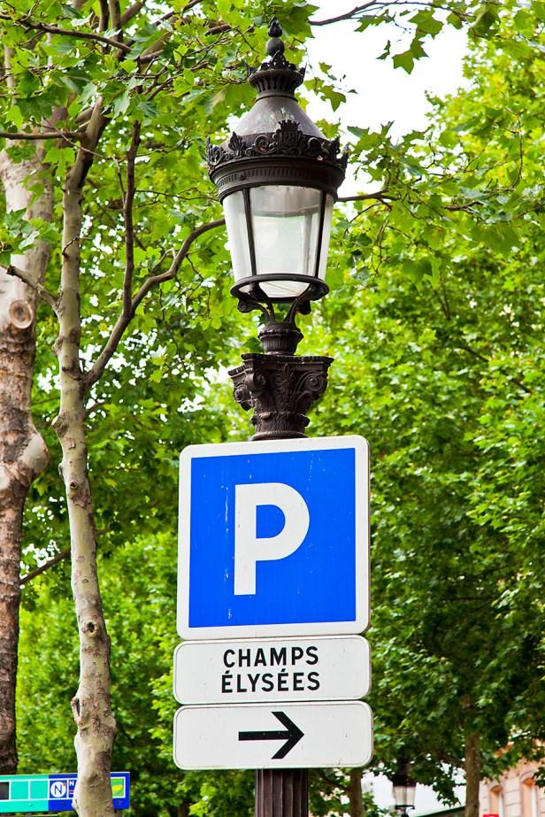 Sign near Champs Élysées