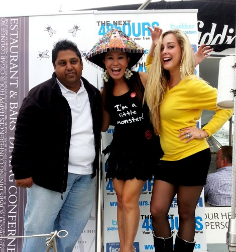 Naushad, Editor of 'The Next 48 Hours' Publication and Jen Su, TV News Anchor and Corporate MC
