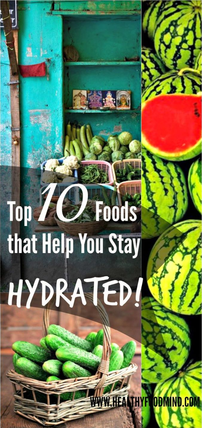 healthy foods which keep you hydrated
