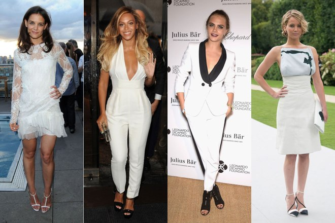 White fashion looks for hot weather