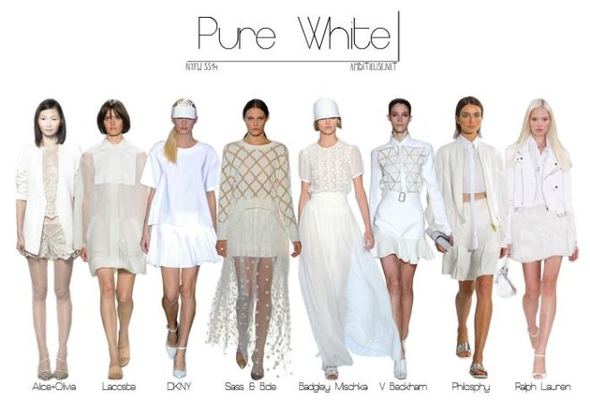 pure white fashion trend ss14