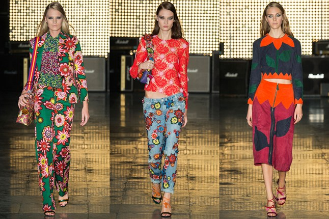 1970's Flower Power Trend, House of Holland SS15, London Fashion Week