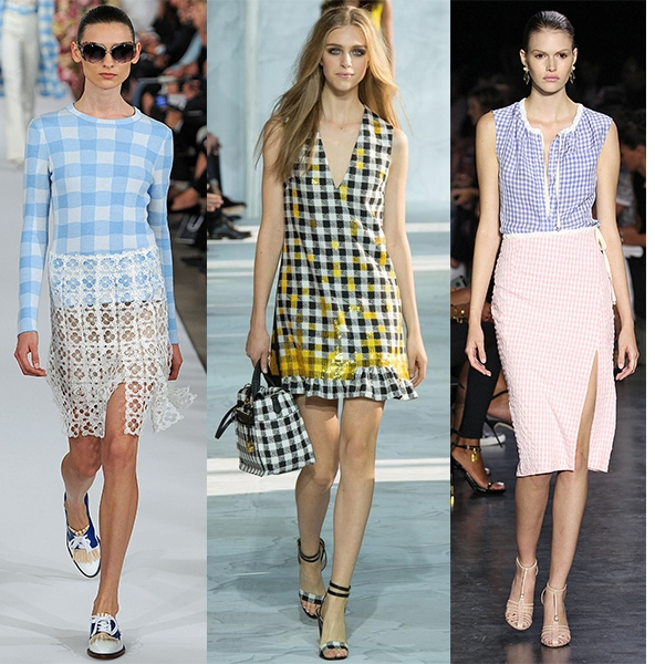 Gingham Fashion Trend SS15, Oscar de la Renta, Diane Von Furstenberg, Altuzarra, New York Fashion Week