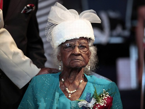 Jeralean Talley, 115 years old. Born 1899