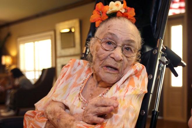 Gertrude Weaver, 116 years old. Born 1898