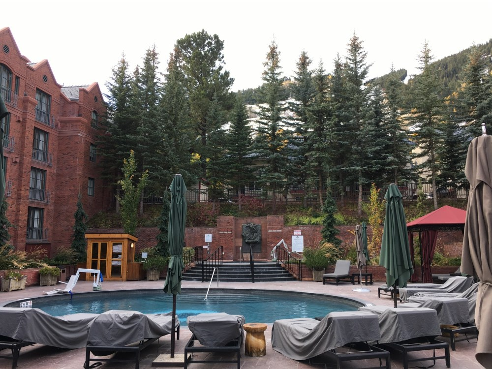 swimming pool at the ritz in aspen colorado