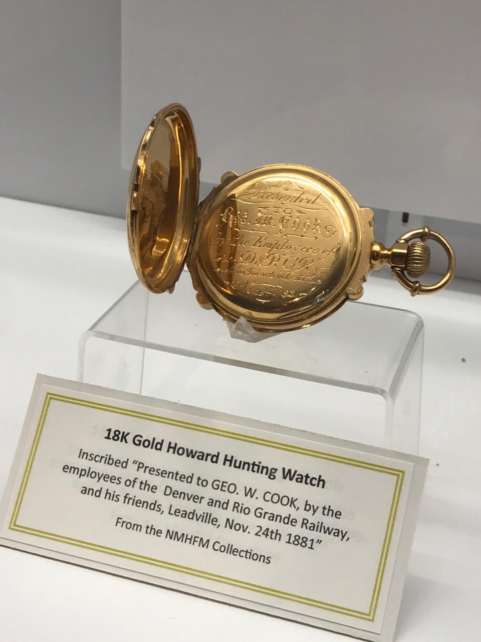18K Gold Howard Hunting Watch