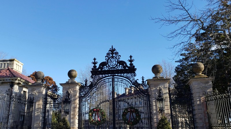 The Vanderbilt Mansion in Newport, Rhode Island