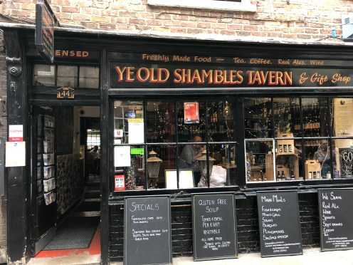 A typical York pub - in the heart of the Shambles