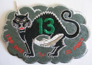 The 'alternative' patch designed to make light of the triskaidekaphobia surrounding this mission.