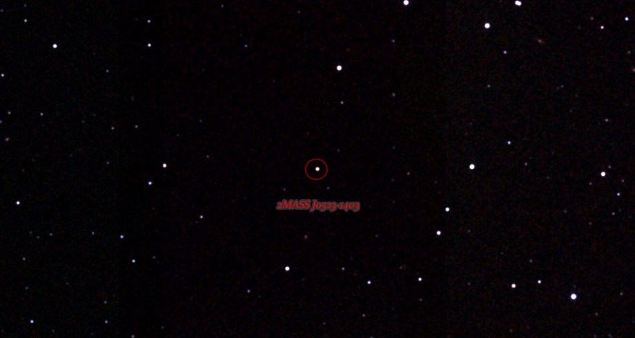 2MASS J0523-1403 identified in its starfield