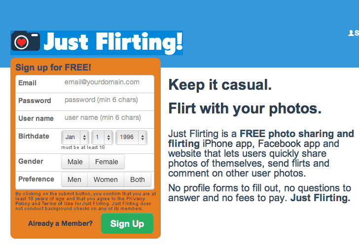 flirting signs on facebook free application form