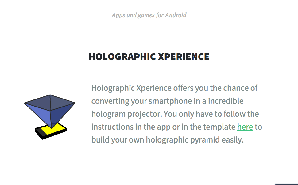 Pitch for Holographic Experience 3D - The Startup Pitch