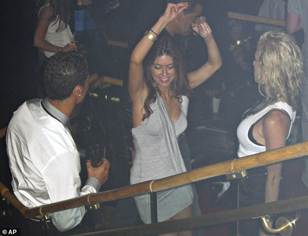 American model-turned-teacher Mayorga claimed the football star raped her in a Las Vegas hotel room in 2009 after the pair met on a night out (pictured) in the city