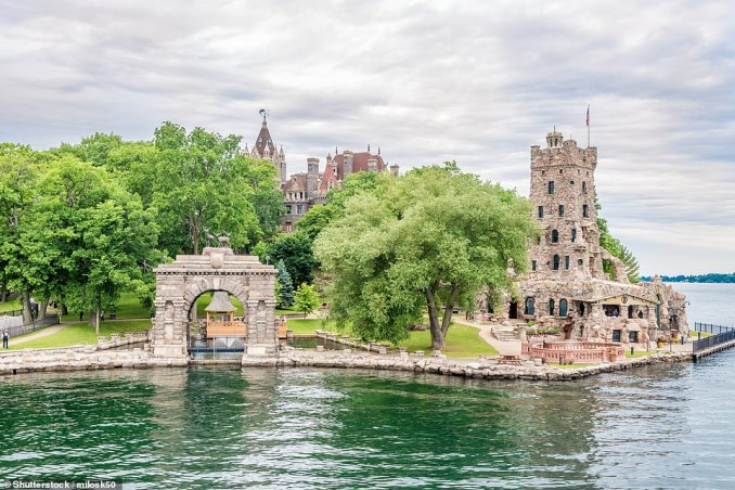 A view ofAlster Tower on Heart Island. Several million dollars have been spent restoring Heart Island and its accompanying properties