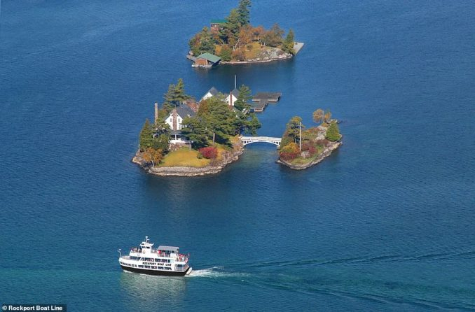 A Rockport Boat Line vessel pictured on a tour of the jaw-dropping island chain that's shared by the U.S and Canada