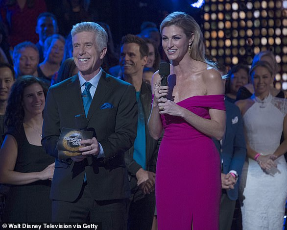 Bring them back:A majority of the tweets desperately begged for the return of veteran hosts Tom Bergeron, 65, and Erin Andrews, 42, who were shockingly canned in July; Tom and Erin pictured in 2019