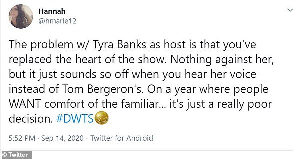 Loss of heart: One Twitter user declared that replacing Tom and Erin with Tyra 'replaced the heart of the show'