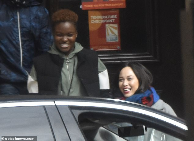 All smiles:Katya left the building with Nicola following closely behind and it appeared that they were the only members of the cast at the location at the time
