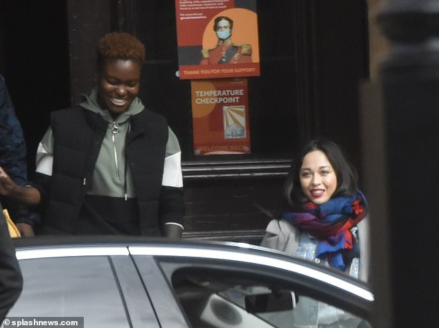 Happy:Katya appeared to delighted to have gotten her way, as she flashed a broad smile while leaving secret location, where they are believed to have filmed their first meet up ahead of the show's start date later this month