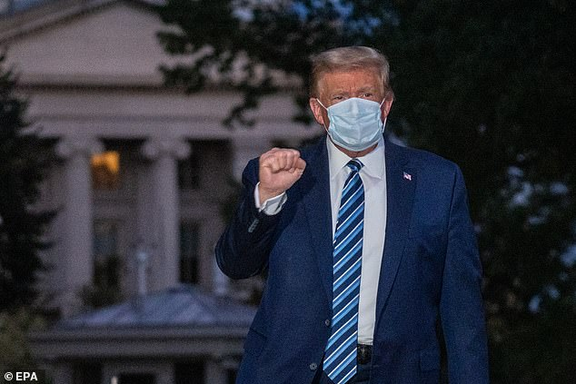 Biden spoke after President Trump's dramatic return so the White House while still infected with COVID-19 after spending three nights at Walter Reed Medical Center getting treatment