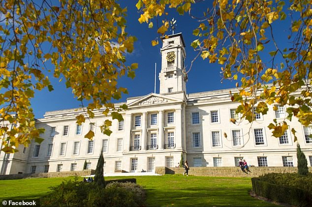 Last night the University of Nottingham (pictured) revealed it had recorded 425 cases of the deadly disease, among staff and students