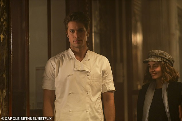 Dishy French chef Gabriel, played by Lucas Bravo, made Twitter swoon with his good looks, and is one of the few characters in the show who is kind to Emily