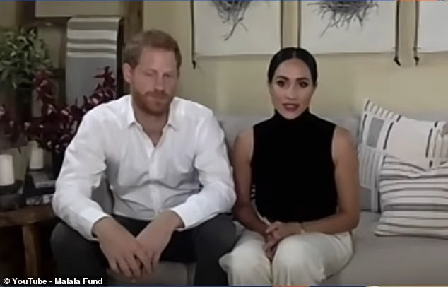 Meghan's gestures - which included placing her hands between her legs and on her chest - made her look 'in awe' of their host, while her stronger sense of empathy for the cause 'shined through', Judi said