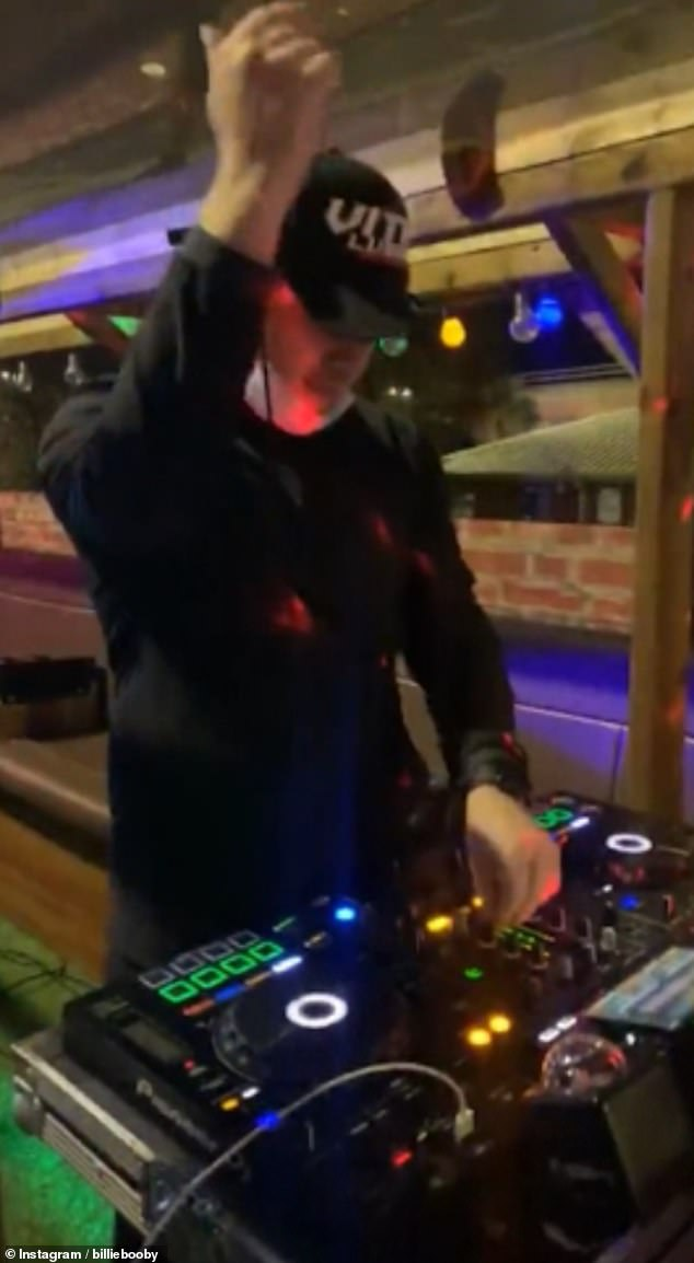 Local DJs Billie Clements and Robert McPartland played electro and house music for the unconventional music event that was later shut down by police